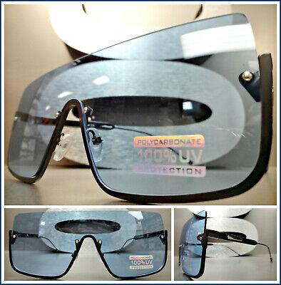 Übergröße Retro Luxus Schild Stil Sonnenbrille Blau Flach Objektiv