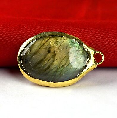 Amazing Labradorite Gemstone Fashion Bohemian Style Pendant Necklace Jewelry