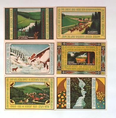 1921 Germany ALTENAU 75 Phennig Banknote / Notgeld Set