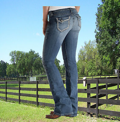 Ariat Jeans Damen, Boot Cut, Turquoise Essential Chain Ariat, Modejeans, Western Essentials Bootcut Jeans