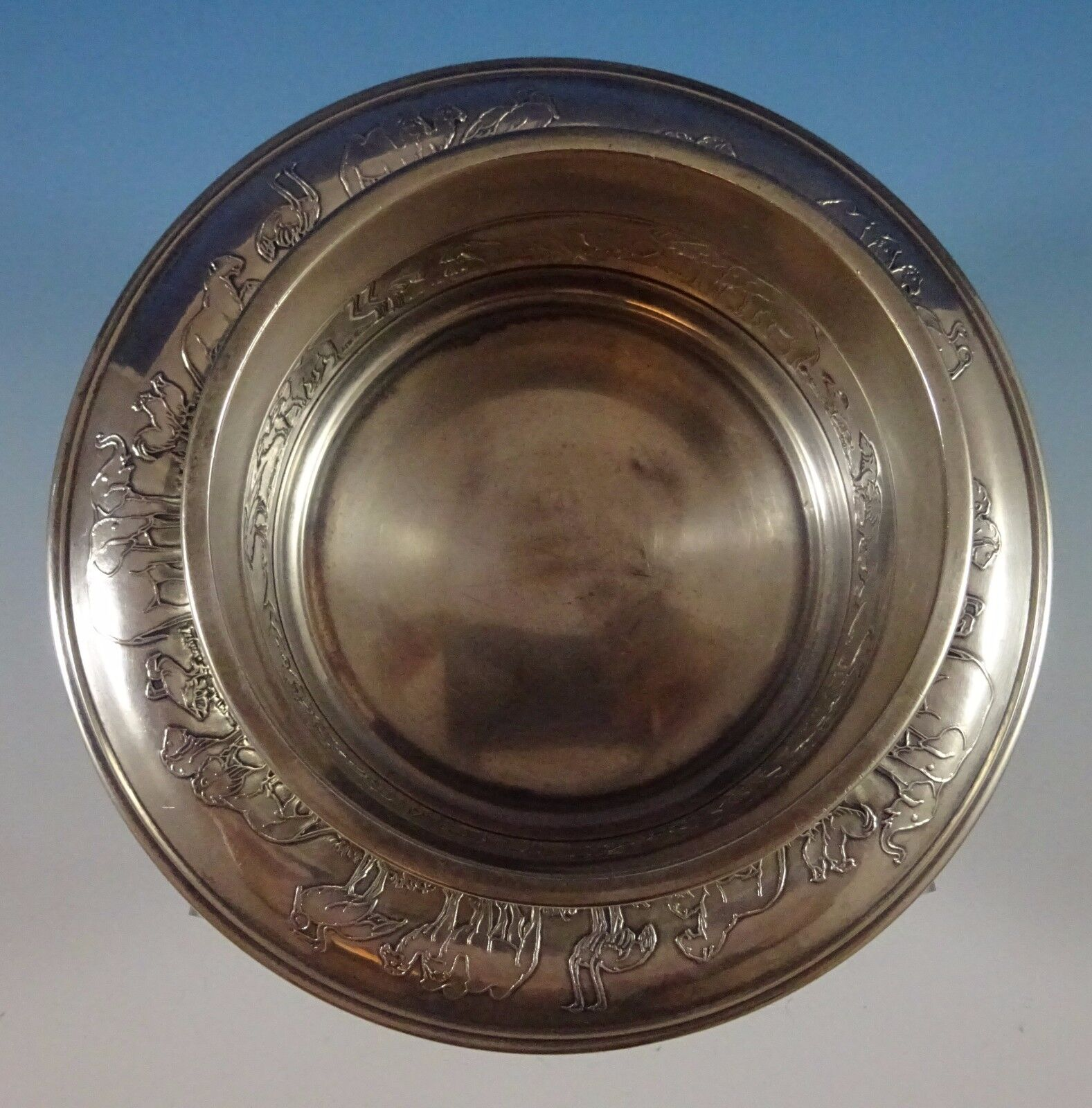 Details about Noahs Ark by Gorham Sterling Silver Child'S Set 2pc Bowl and  Underplate (#1238)