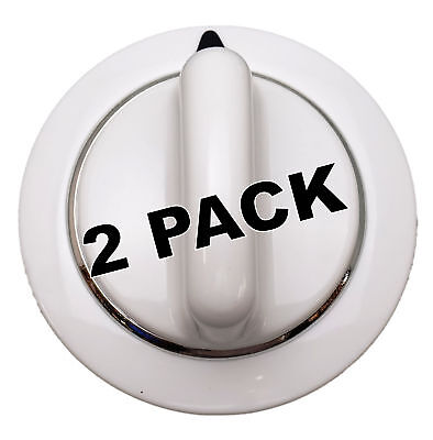 2 Pk, Dryer Knob, White, for General Electric, Hotpoint AP39