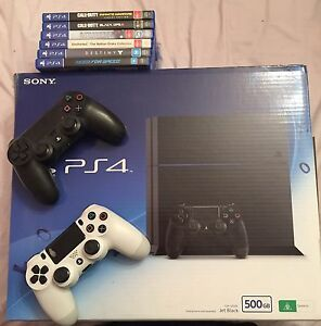 PS4 500GB + 6 games for sale Hallam Casey Area Preview