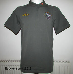 MENS UMBRO GLASGOW RANGERS AFTERMATCH POLO SHIRT SIZE LARGE BNWT