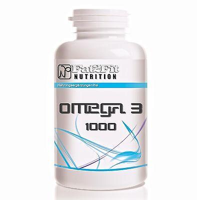 Fischöl (4,84€/100g) 180 Kapseln je 1000mg  Omega 3 / Fat2Fit Nutrition