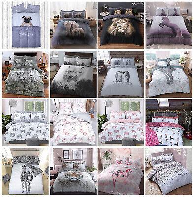 Luxury Animal Print Design Duvet Set Quilt Cover Bedding Single Double King Size