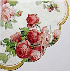 VICTORIAN ROSES  2 individual LUNCH ROUND 13