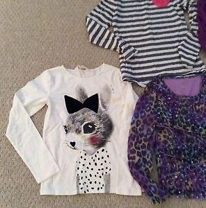 Lot Of 5 Long Sleeve Tops Girls Size 8-10 (7-8 Year Old) Cambridge Kitchener Area image 2