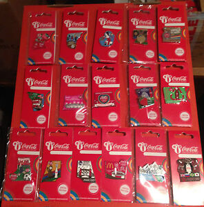 LONDON 2012 OLYMPICS COCA COLA DAY OF THE GAMES 16 PIN BADGES