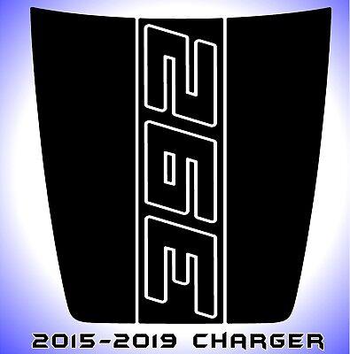 392 Dodge Charger Power Bulge Hood Decal Daytona SRT Hellcat Scat Pack 2015-2019 ()