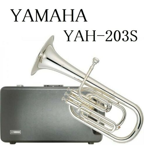YAMAHA Alto Horn Eb 3 Piston Top Action YAH-203S Silver-Plated Brand New