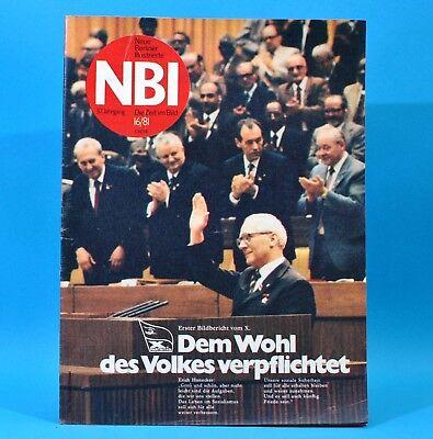 DDR NBI 16 1981 X. Parteitag SED Palast der Republik FDJ Jugend Nimmerklug N