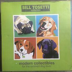 Modern Collectibles Bill Tossetti Golden Retriever Pop Art Dog 8 Inch Wall Clock