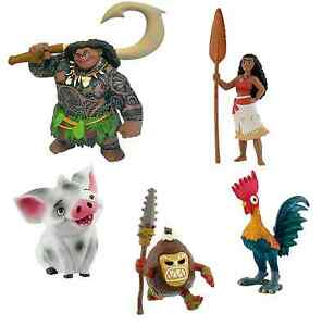 bullyland disney moana vaiana figures figurines toys cake toppers topper ebay. Black Bedroom Furniture Sets. Home Design Ideas