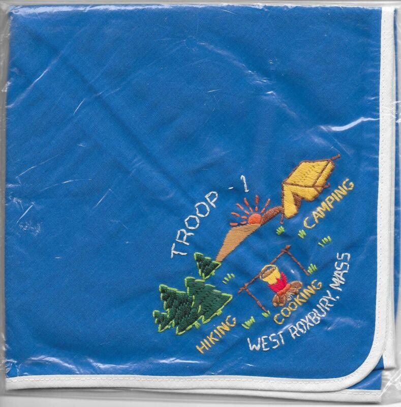 West Roxbury Mass. Massachusetts  Troop 1 Neckerchief Boy Scouts of America BSA