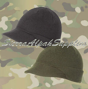 NEW-US-ARMY-STYLE-OLIVE-GREEN-or-BLACK-PEAKED-JEEP-HAT-SAS-PARA-AIRSOFT-SURPLUS