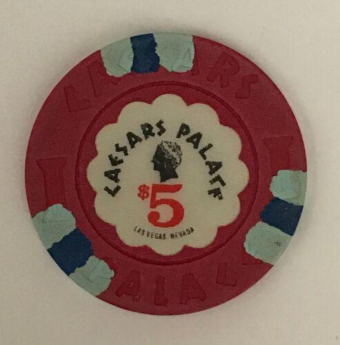 Caesars Palace Las Vegas $5 Casino Chip Obsolete Old Bust