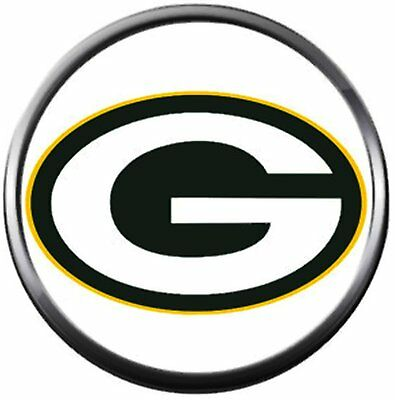 NFL Logo Green Bay Packers Football Fan Team Spirit 18MM - 20MM Fashion Snap Cha 20' Nfl Football Fan