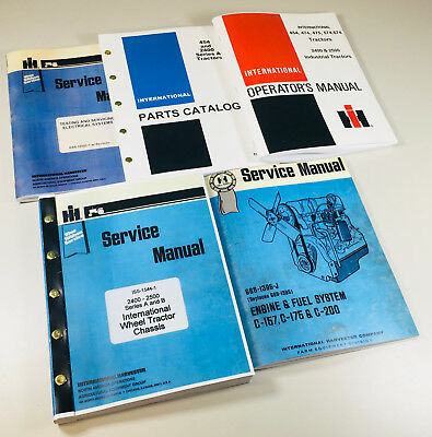 International 2400a Gas Tractor Service Parts Operators Manual Engine Chassis