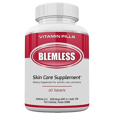 Blemless Clear Skin Supplements Pill UK- Best Tablets for Oily Skin and a (Best For Clear Skin)