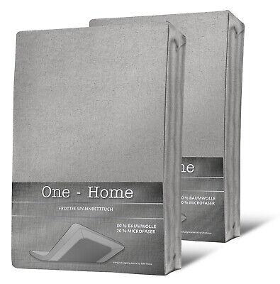2er Pack Spannbettlaken FROTTEE 140x200 cm - 160x200 cm silber Spannbetttuch Set