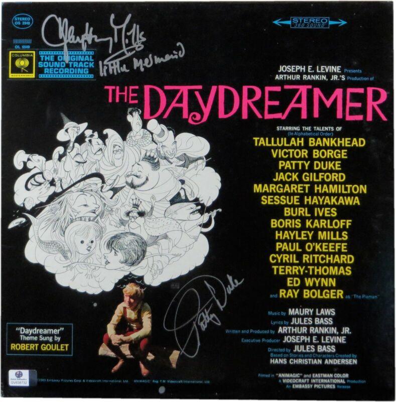Patty Duke Hayley Mills Signed Soundtrack Album Cover The Daydreamer JSA U16371