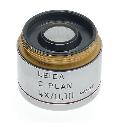 C Plan 4x0.10 Objective Lens Excellent 506074 Leica Dm Laboratory Microscope