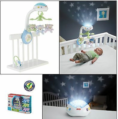 Mattel Fisher-Price 3-in-1 Traumbärchen Mobile Musik mit Motiven Sternenlicht