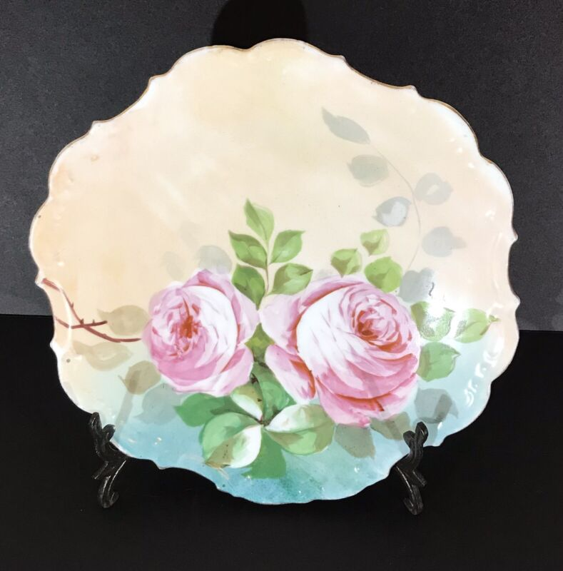 Antique LDBC Flambeau Limoges France Handpainted And Signed Beautiful!