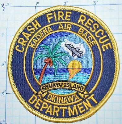 HAWAII, USAF KADENA AIR FORCE BASE OKINAWA CRASH FIRE DEPT RESCUE PATCH
