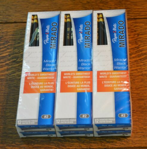 72 PAPERMATE MIRADO BLACK WARRIOR WOODCASE #2 PENCILS - 6 BOXES OF 12 EACH