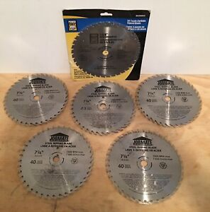 "Lot of 7-1/4"" Circular Saw Blades: Steel Ripping, Metal Cutting"