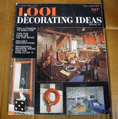 1967 1001 Decorating Ideas Fall Winter Magazine Book 25 Retro Vintage ](Fall Decorations Ideas)