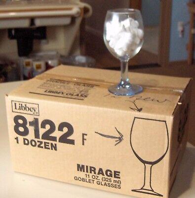 (Libby USA Mirage 8122 Light Blue Goblet Wine  Water Glasses 11oz Set of 12)