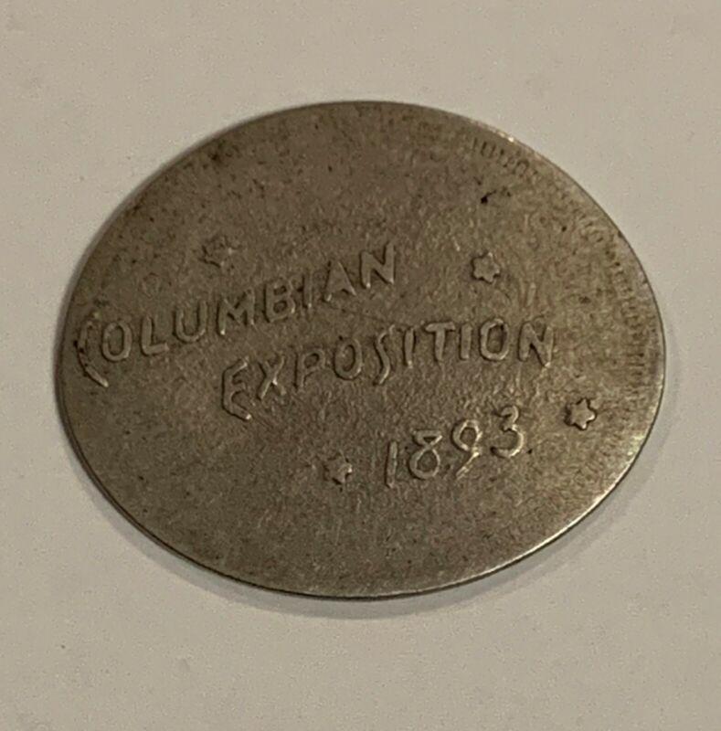 1884 Elongated Nickel Columbian Exposition Liberty V Nickel - World