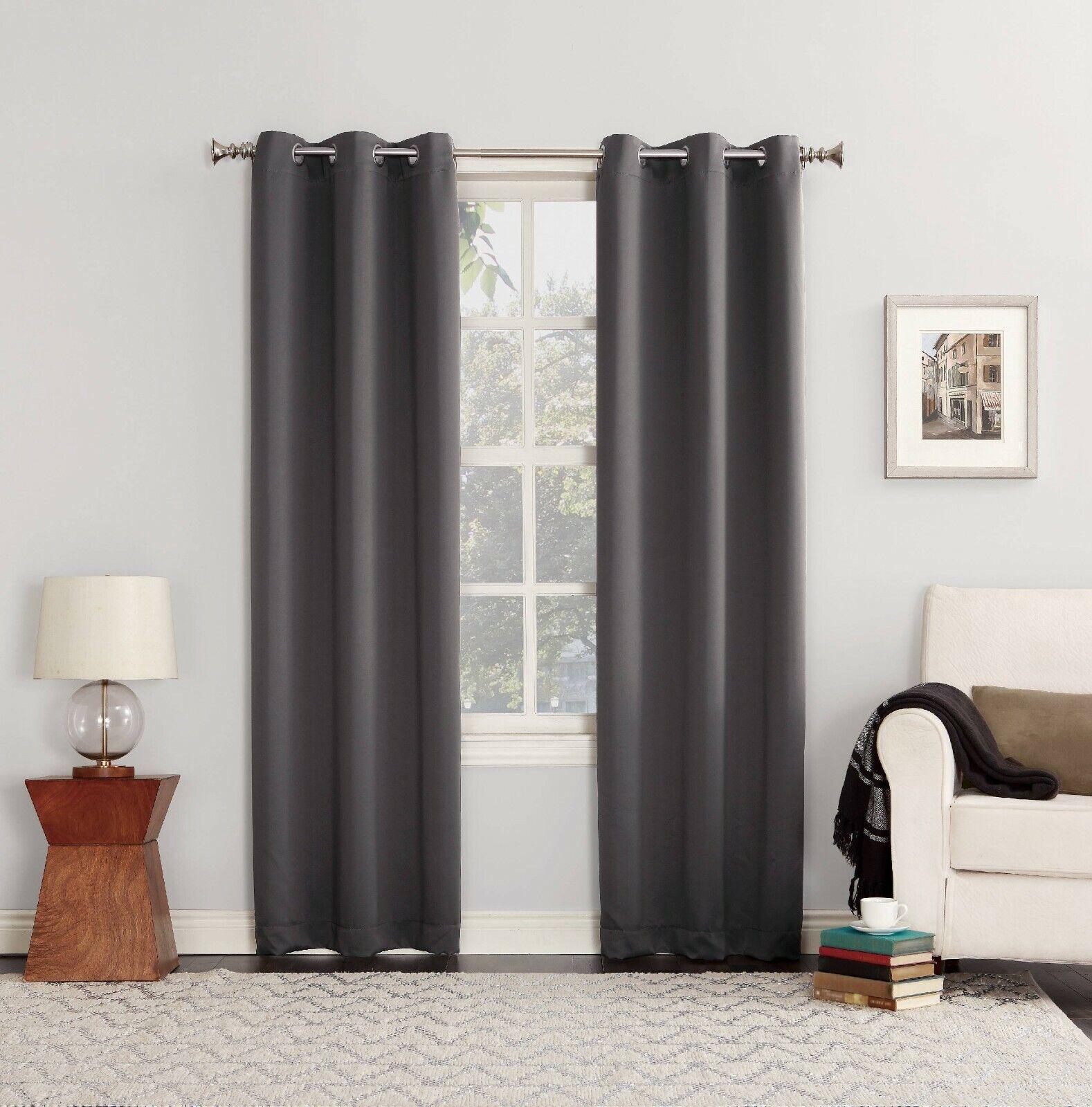 Sun Zero Nolan Energy Efficient Blackout Grommet Curtain Pan