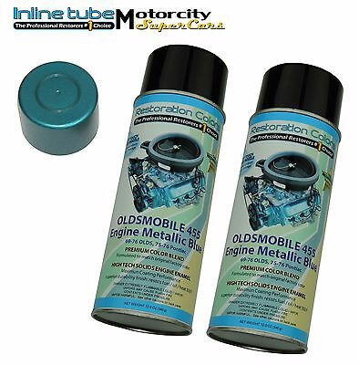 69 70 72  442 W 30 455 Factory Correct Olds Blue High Heat Engine Paint 2 Cans