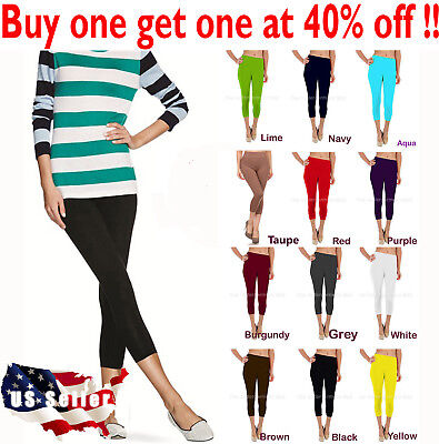 Seamless Capri Leggings - Womens capri leggings seamless skinny slim fit cropped solid yoga pants nylon