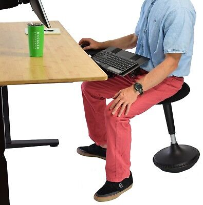Wobble Stool; Adjustable Height Active Sitting Balance Chair Office Stand Desk