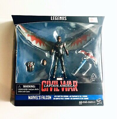 "2015 HASBRO MARVEL LEGENDS 3 3/4"" CIVIL WAR FALCON ACTION FIGURE INFINITE SERIES"