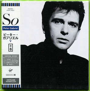 Peter Gabriel SO +6 Japan mini LP 16-trk CD Sealed w/OBI Sledgehammer / Big Time