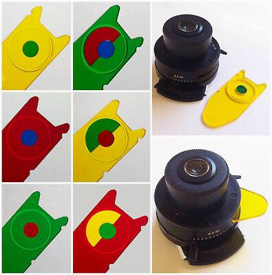 V00. Leitz Microscope Compatible Rheinberg Illumination Filter Set