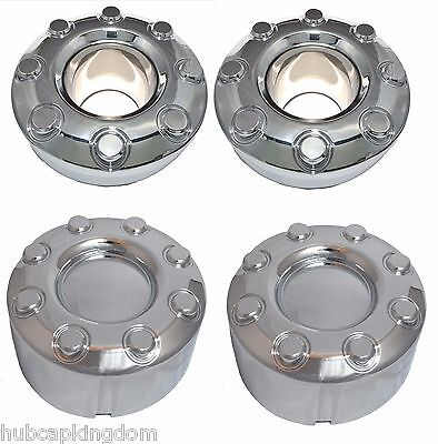 2005-2016 Ford F-350 F350 Dually Wheel Chrome Center Caps SET 4x4 Fronts & Rears