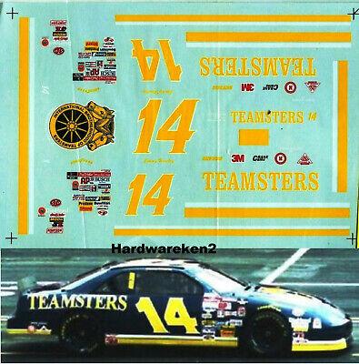 NASCAR DECAL #14 TEAMSTERS 1996 PONTIAC GRAND PRIX JIMMY HENSLEY