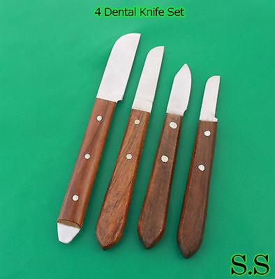Set Of 4 Dental Lab Plaster Knife Set Laboratory Instruments