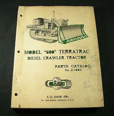 Case 600 Terratrac Diesel Crawler Tractor Parts Manual Book Catalog