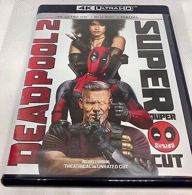 Deadpool 2 (4K Ultra HD, Blu-ray Disc) - Super/Extended Cut (4 DISCS)  **MINT**