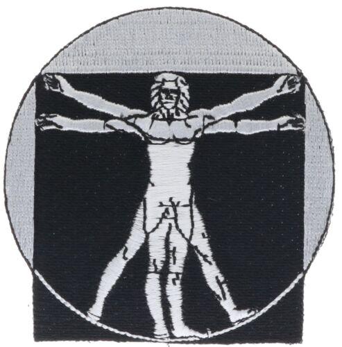 Vitruvian Man Da Vinci  3 Inch Embroidered Patch PPM F4D7BB