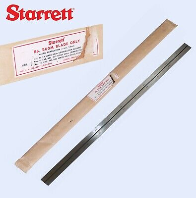 Starrett B 60 M Blade Only For Combination Squares Metric 0 To 600 Mm Nos