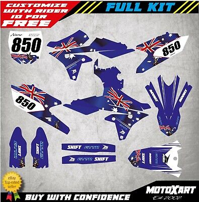 Custom decal Kit to Fit Yamaha YZF 250 2014 2015 2016 2017 2018 AUSSIE STYLE